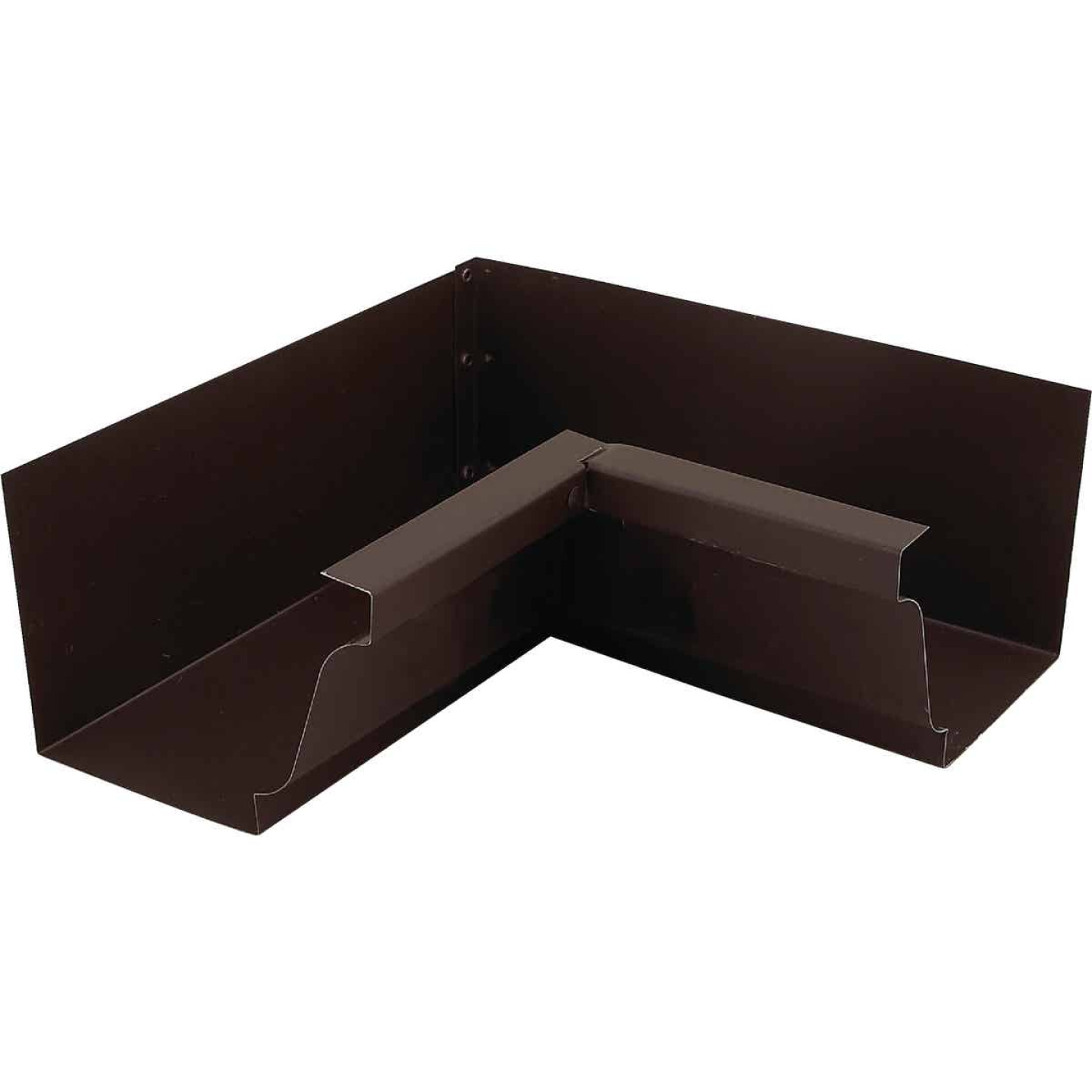 NorWesco 4 In. Galvanized Brown Gutter Inside Corner Image 1