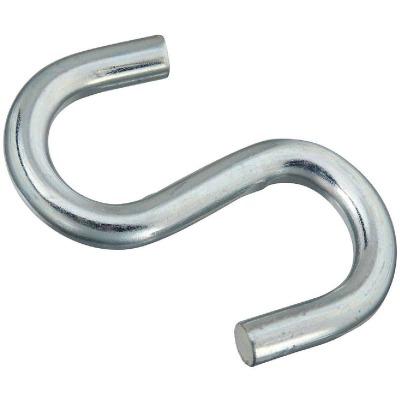National 4 In. Zinc Heavy Open S Hook