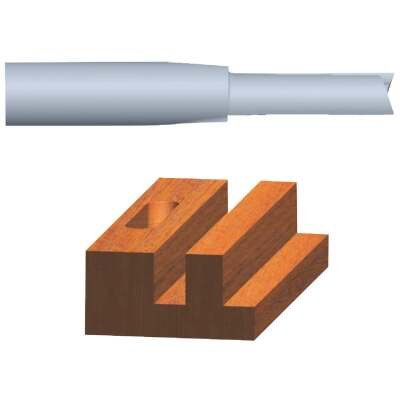 Vermont American Carbide Tip 3/8 In. Straight Bit