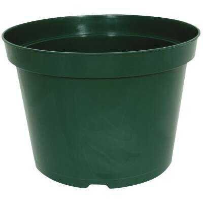 Myers 4.63 In. H. x 6 In. Dia. Green Poly Flower Pot
